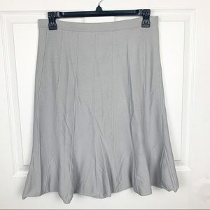Grace Skirts - Grace Gray Flowy Nylon Stretch Midi Skirt